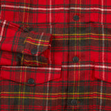 Salvatore Piccolo GPL 46 Wool Overshirt in Red Plaid