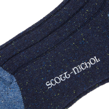 Scott Nichol Thornham Merino Silk Sock // Navy