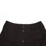 Margaret Howell MHL Women's Japanese Drill Walking Skirt in Black
