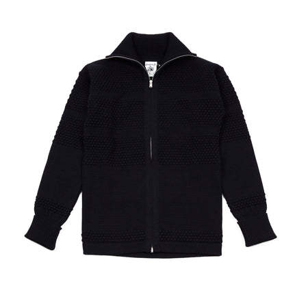 SNS Herning Fisherman Full Zip Jumper in Navy