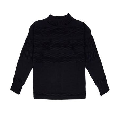 SNS Herning Crew Neck Fisherman Original Jumper in Navy