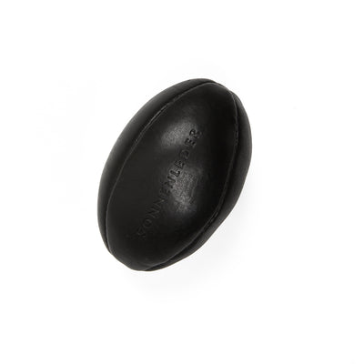 Sonnenleder Leather Mini Rugby Ball in Black