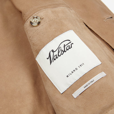 Valstar 407AF028 Valstarino Suede Jacket in Brown Sugar