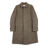 Valstar Milano Overcoat in Oil Check Shetland Tweed