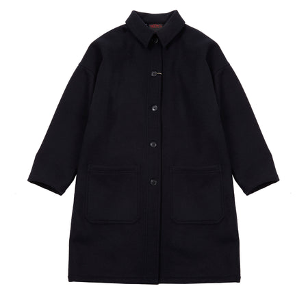 Vetra Women's 3E55/2106F Soft Wool Melton Coat in Navy