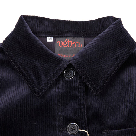 Vetra Women's 9M55 / 4F Medium Wale Corduroy Jacket in Navy