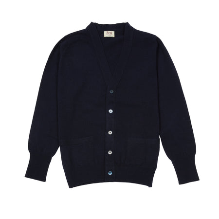 William Lockie Gordon Geelong Cardigan in Navy