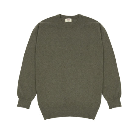 William Lockie Gordon Crew-neck Jumper in Loden