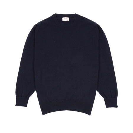 William Lockie Gordon Crew-neck Jumper in Navy