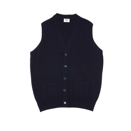 William Lockie Gordon V-neck Waistcoat in Navy