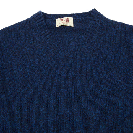 William Lockie Gullan Geelong Jumper in Navy Marl