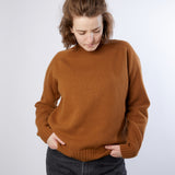 Harley Women's Roll Neck Geelong Lambswool Jumper in Vintage Vicuna