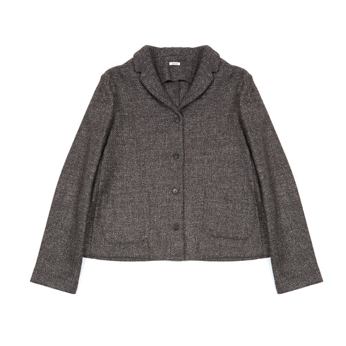 Apuntob Wool Linen Jacket in Coffee