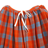 Apuntob Wool Plaid Skirt in Orange/Blue