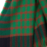 Begg & Co Kishorn Washed Cashmere scarf in Green Stewart