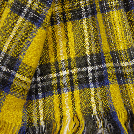 Begg & Co Kishorn Washed Cashmere Scarf in Yellow Stewart