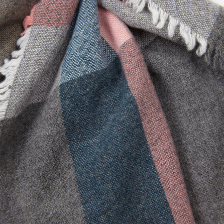 Begg & Co Washed Beaufort Lambswool Scarf in Aalto Grey Blush