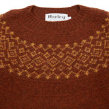 Harley Women's Fair Isle Yoke Jumper in Rust/Cummin