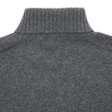 Harley Roll-Neck Geelong Lambswool Jumper in Derby Grey