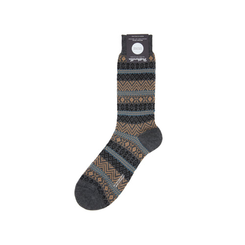 Pantherella Foxhill Merino Socks // Fairisle Grey