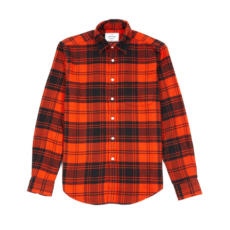 Portuguese Flannel Vila Shirt in Black/Orange