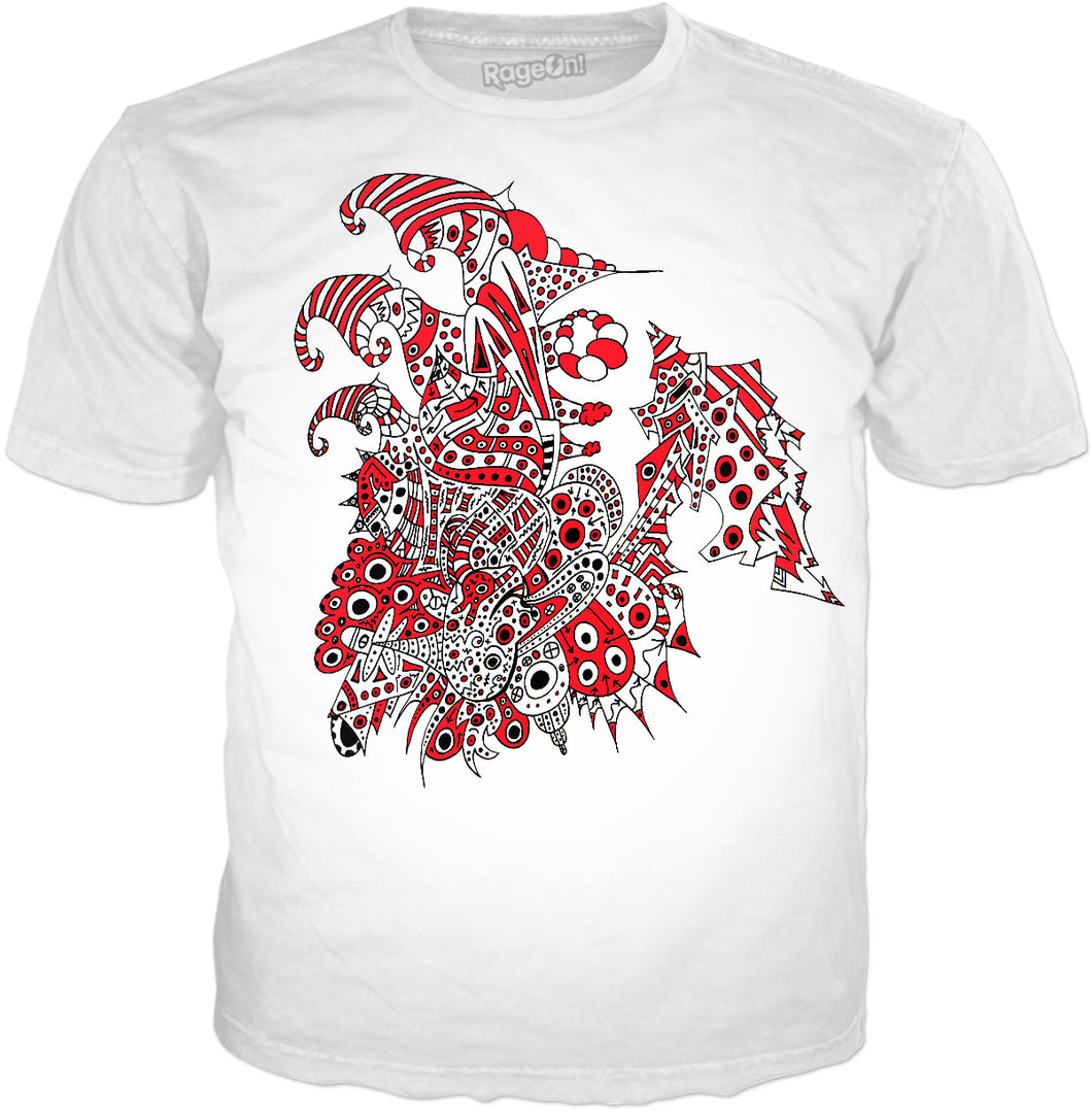 Alien 57 White & Red T-Shirt