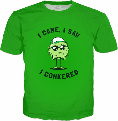 I Came I Saw I Conkered T-Shirt - Conkers Autumn Chesnut Pun
