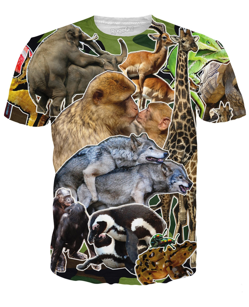 Animals Having Sex Collage T-Shirt