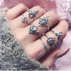 Boho 7 Pcs/Set Women Bohemian Crown Rings