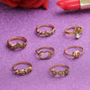 Boho 7Pcs/Set Punk Rock Gold Stack