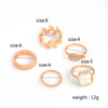 The Boho 5pcs/set Elegant Rhinestone Rings