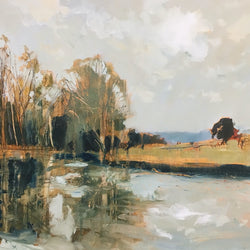 Autumn lake, Glyndebourne
