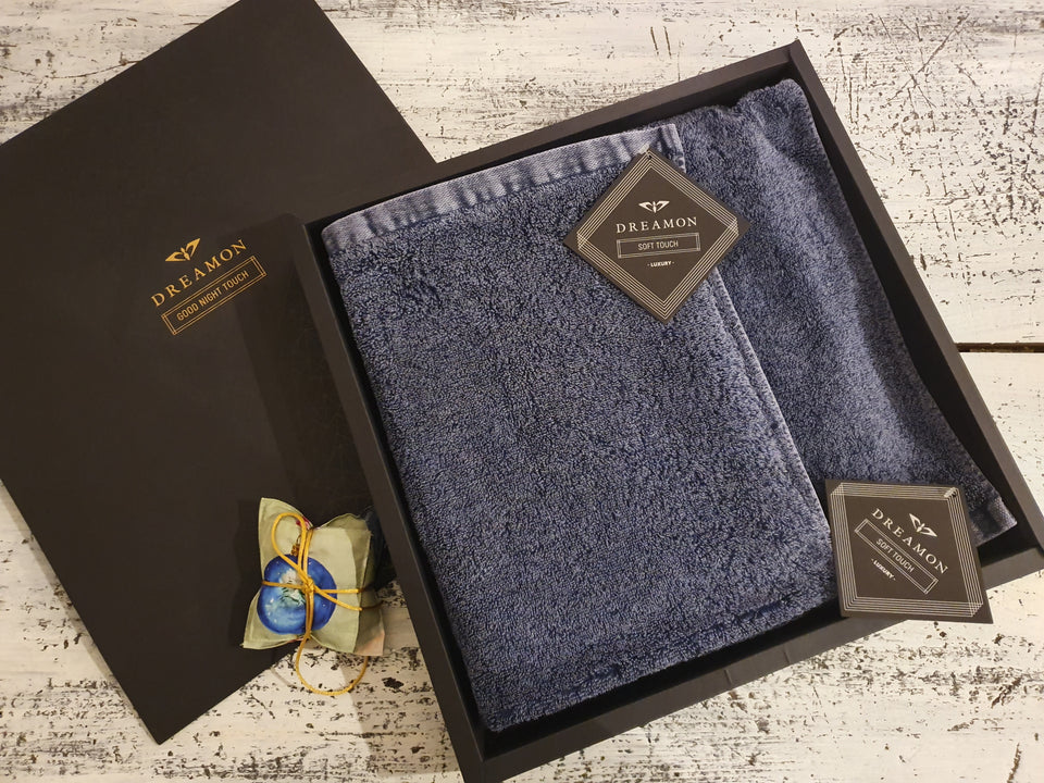 "Bath Towel Gift Set ""Denim Blue"""