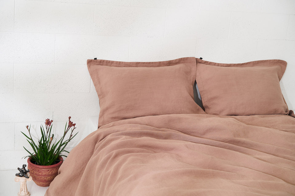 "Flax Bedding Set ""Brown"""