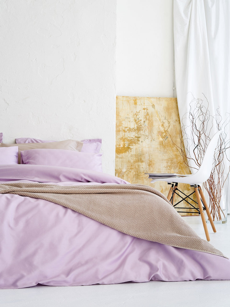 "Bedding Set ""Lilac Blush"" + bedsheet for free!"