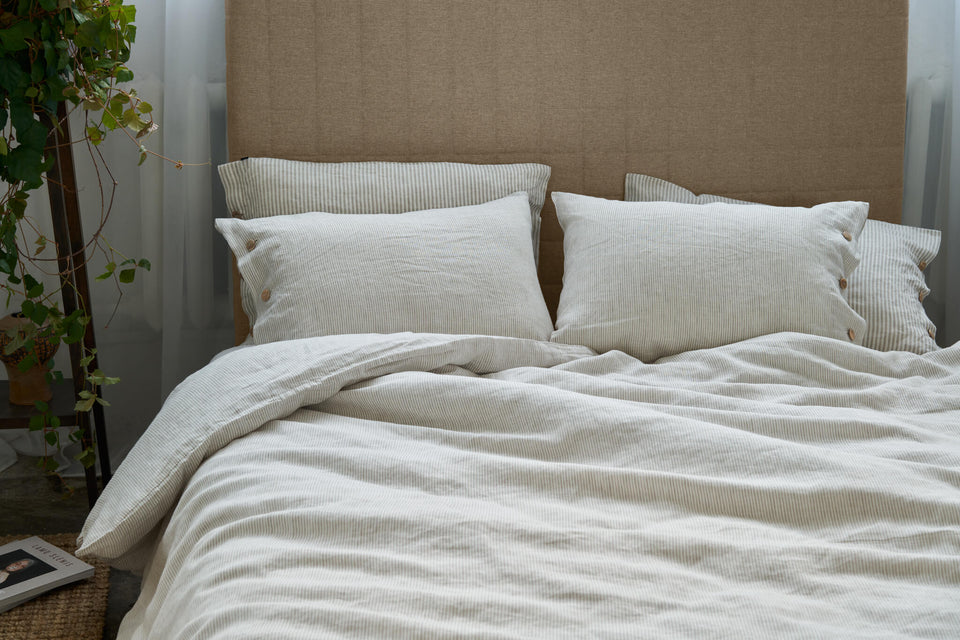 "Flax Bedding Set ""Natural Lines"""