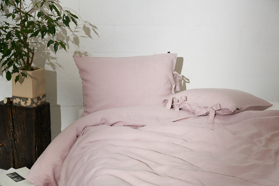 "Flax Bedding Set ""Lilac"""