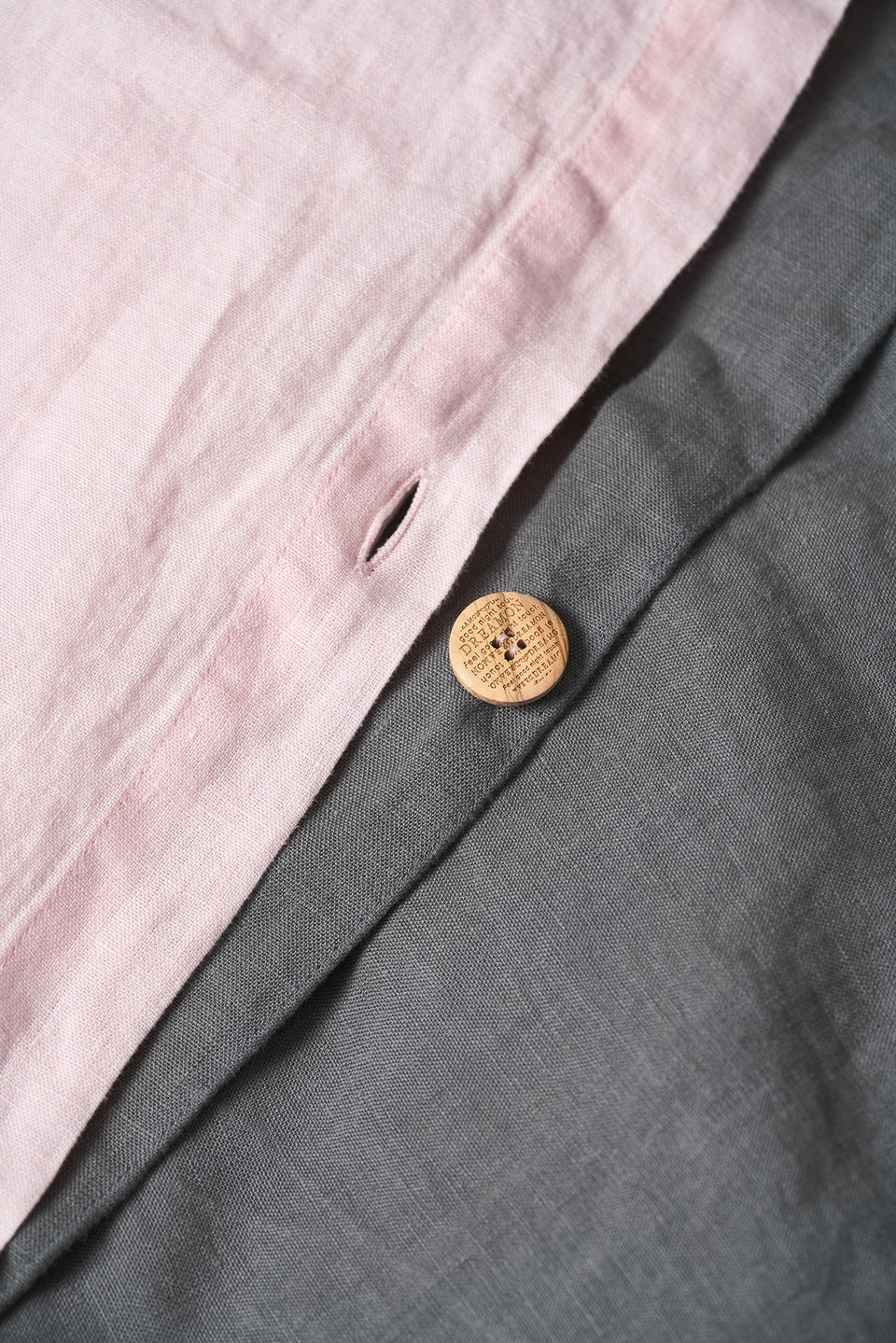 "Flax Bedding Set ""Grey/Rose"""