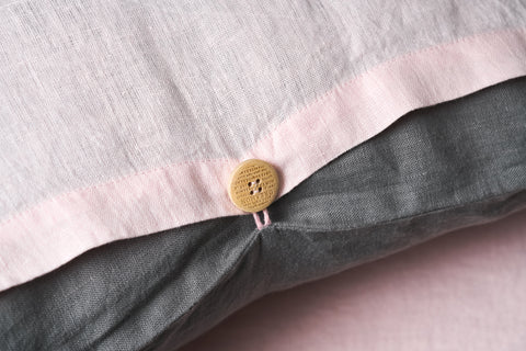 "Flax Bedding Set ""Grey/Rose"" AW'18/19"