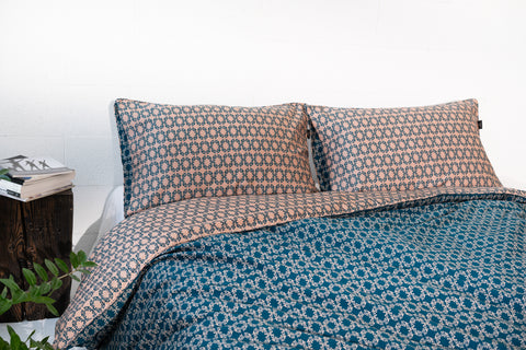 "Bedding Set ""Night Light / Green"" 210x230 cm"