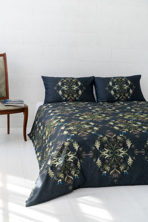 "Bedding Set ""Imperial Damask Green"" 200x200 / 50x60 cm"