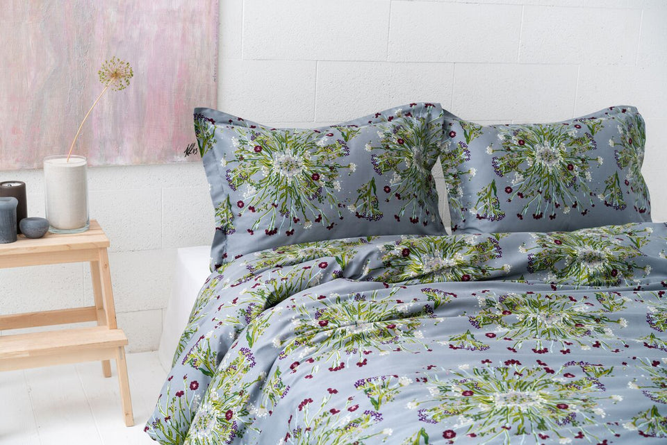 "Bedding Set ""Crown Of Flower Grey"""