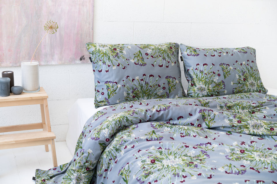 "Bedding Set ""Crown Of Flower Grey"" 200x220 cm"