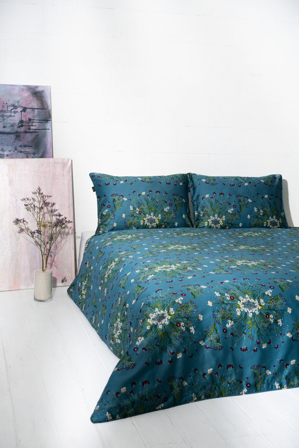 "Bedding Set ""Crown Of Flower Green Blue"" 200x220 cm"