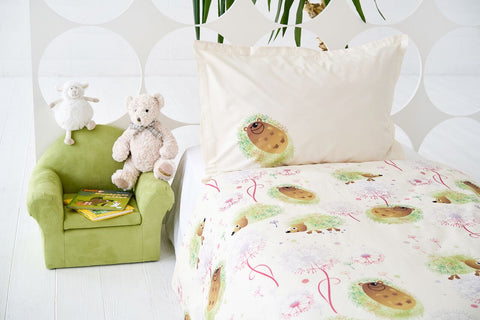 "Bedding Set ""Hedgehog Green"""
