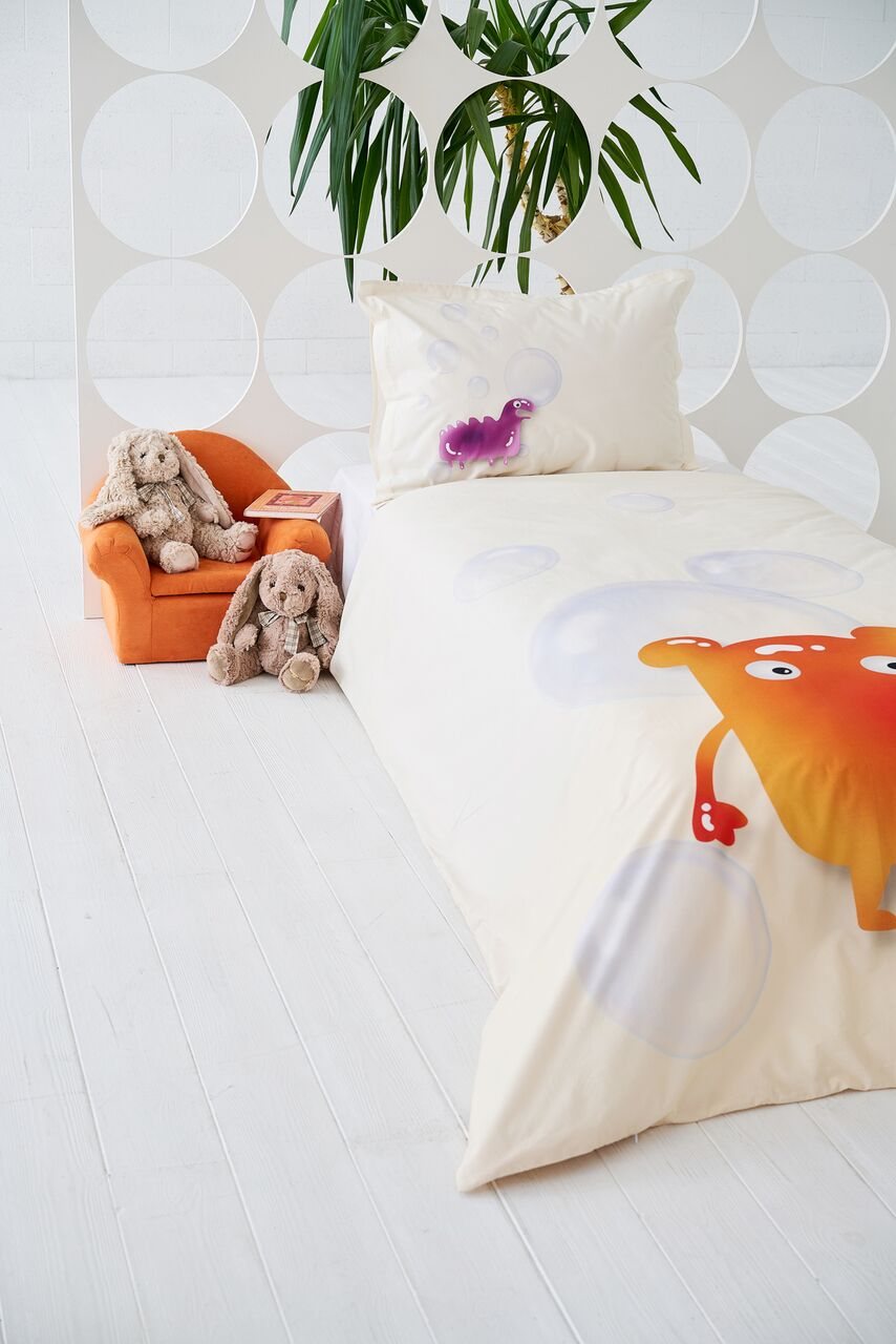 "Bedding Set ""Gummy Pink/Orange"""