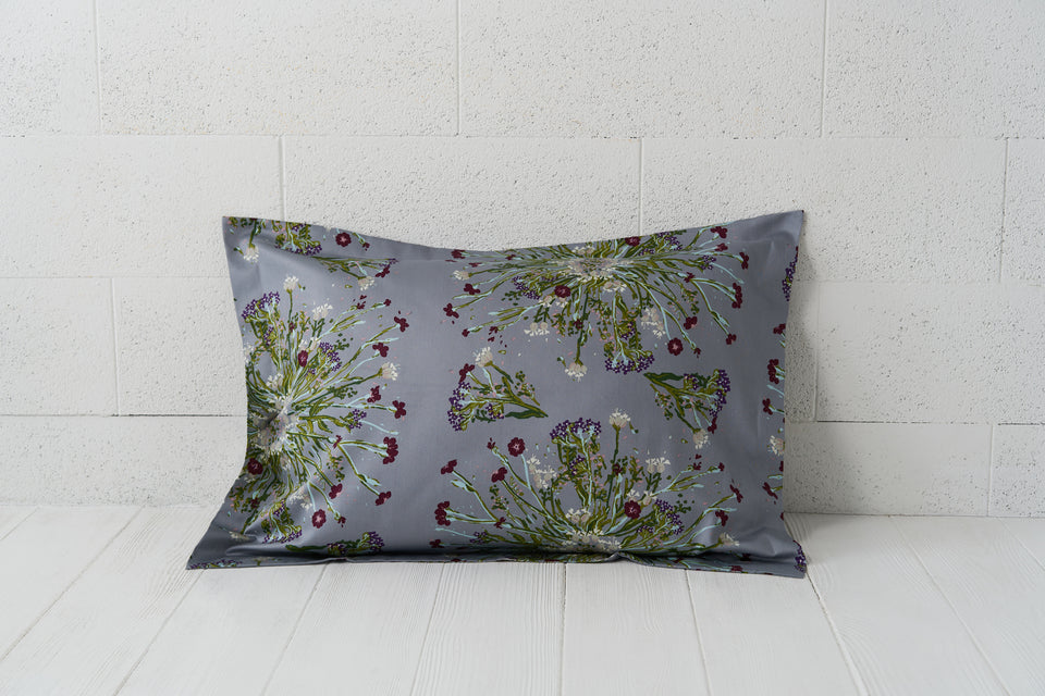 "Pillow cover ""Crown Of Flower Grey"""