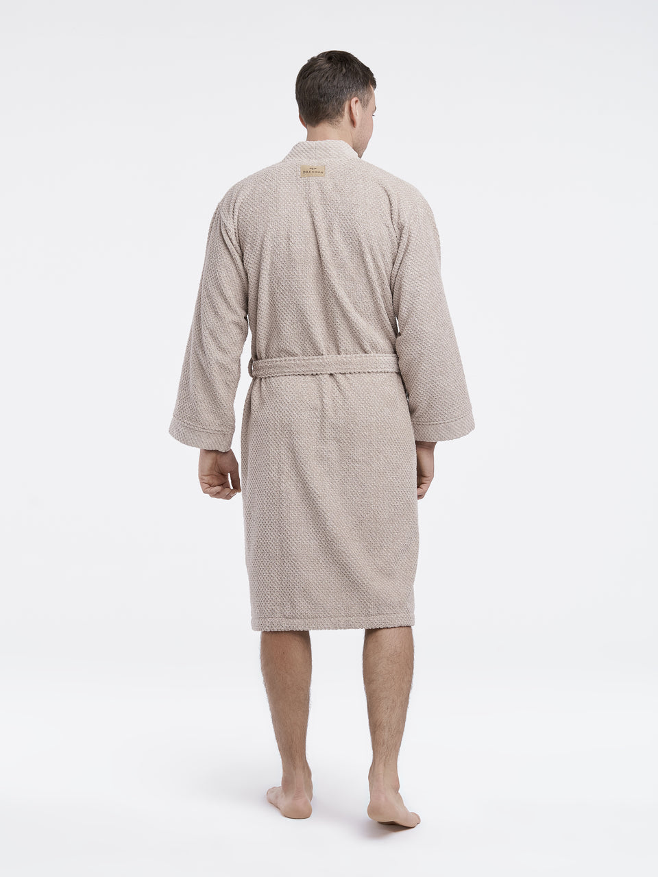 "Cotton Bathrobe ""Rice"" Beige"