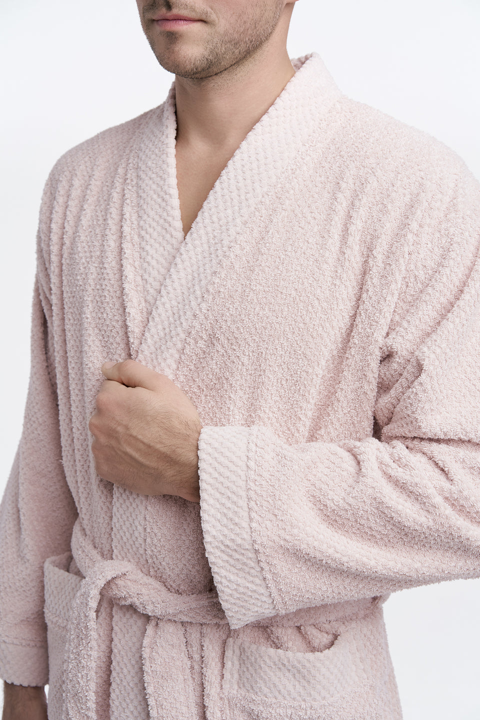 "Cotton Bathrobe ""Rice"" Pudra"