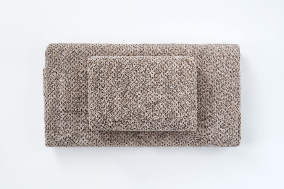 "Bath Towel ""Rice"" Beige"